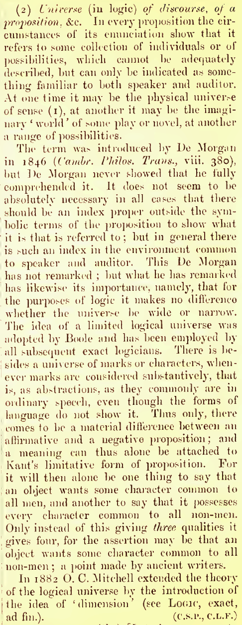 Peirce 1902 Universe of Discourse p742.png